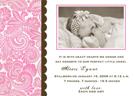 Memorial CardsBirth Announcements – Walgreens Birth Announcements