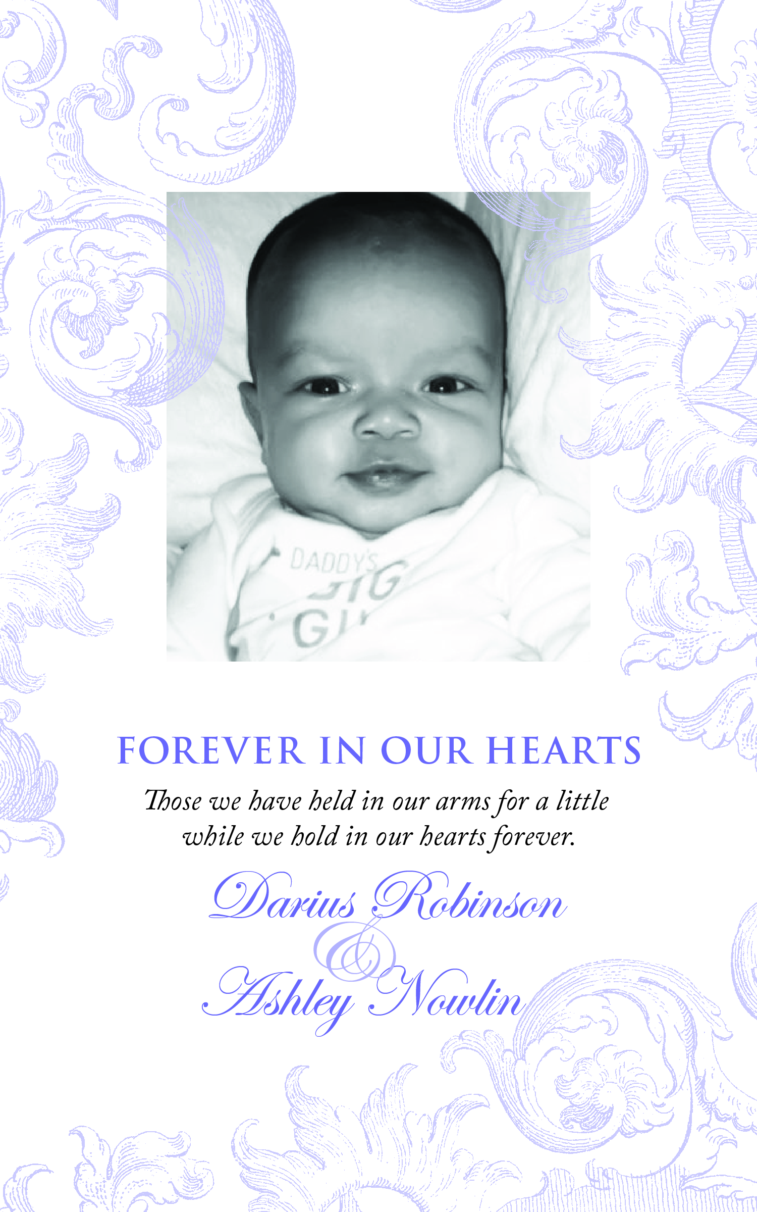 sample infant obituaries